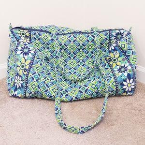 Vera Bradley Blue Green Daisy Daisy Large Duffle